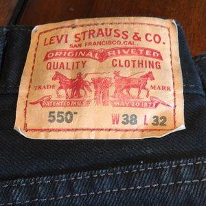 Levi's 38x32 550 Relaxed Fit Jeans Black